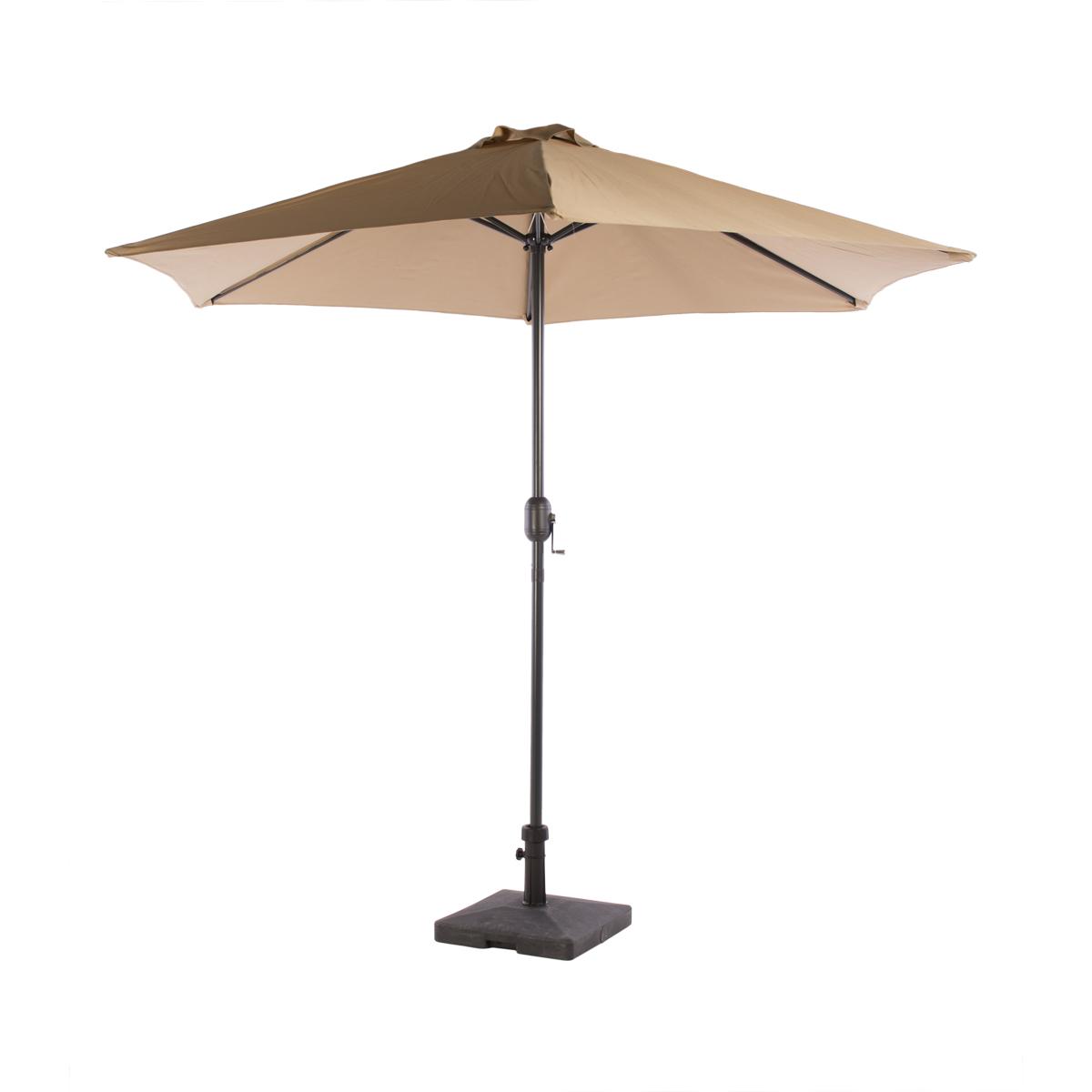 parasol taupe avec pied abc location. Black Bedroom Furniture Sets. Home Design Ideas