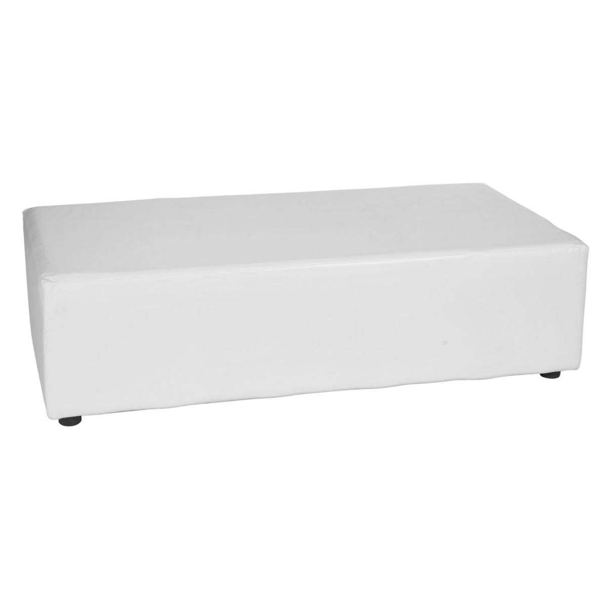 banquette lounge blanche 152x50cm hauteur 40cm abc location. Black Bedroom Furniture Sets. Home Design Ideas