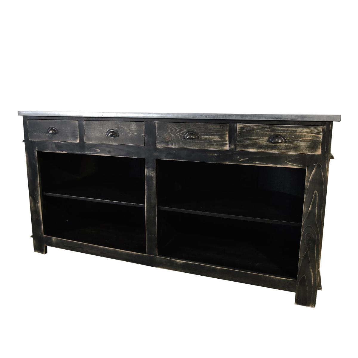bar sur roulette vintage noir abc location. Black Bedroom Furniture Sets. Home Design Ideas