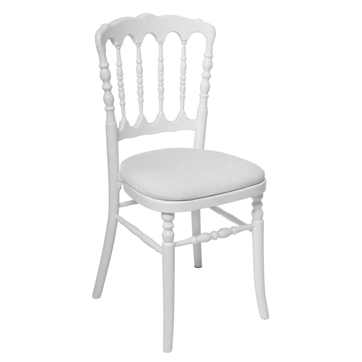 Chaise napoleon blanche abc location for Chaise napoleon blanche