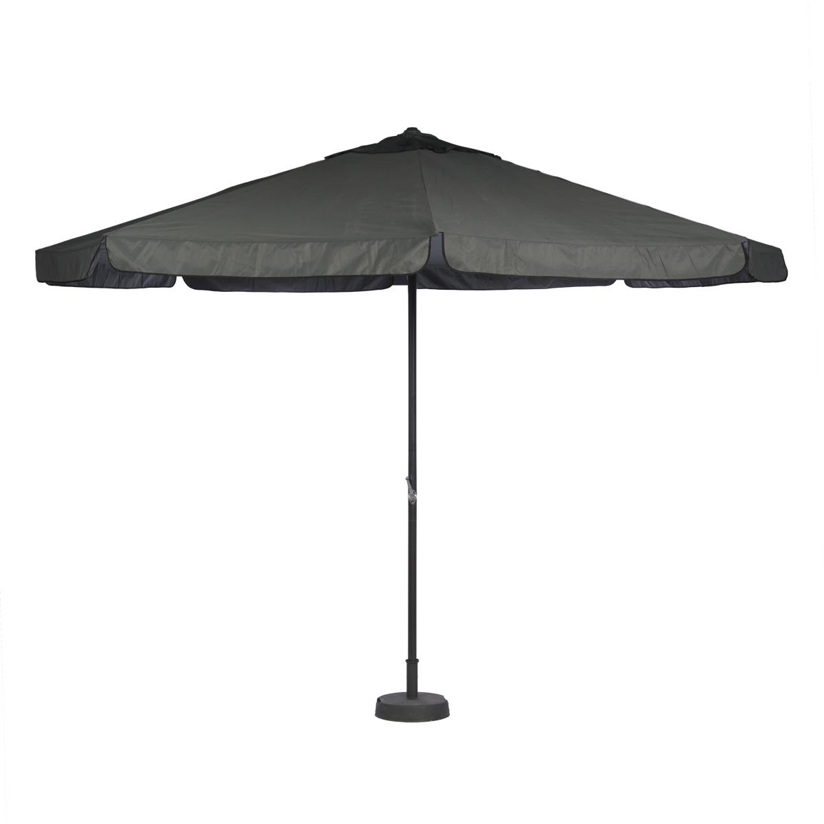 parasol 4m gris avec pied abc location. Black Bedroom Furniture Sets. Home Design Ideas