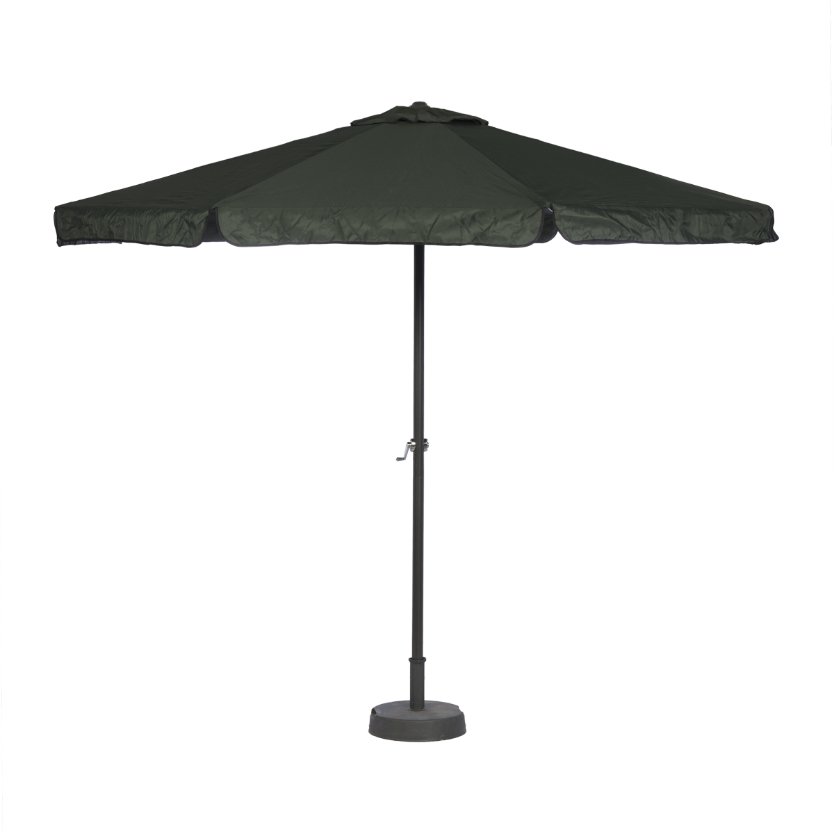 parasol 3m vert fonce avec pied abc location. Black Bedroom Furniture Sets. Home Design Ideas